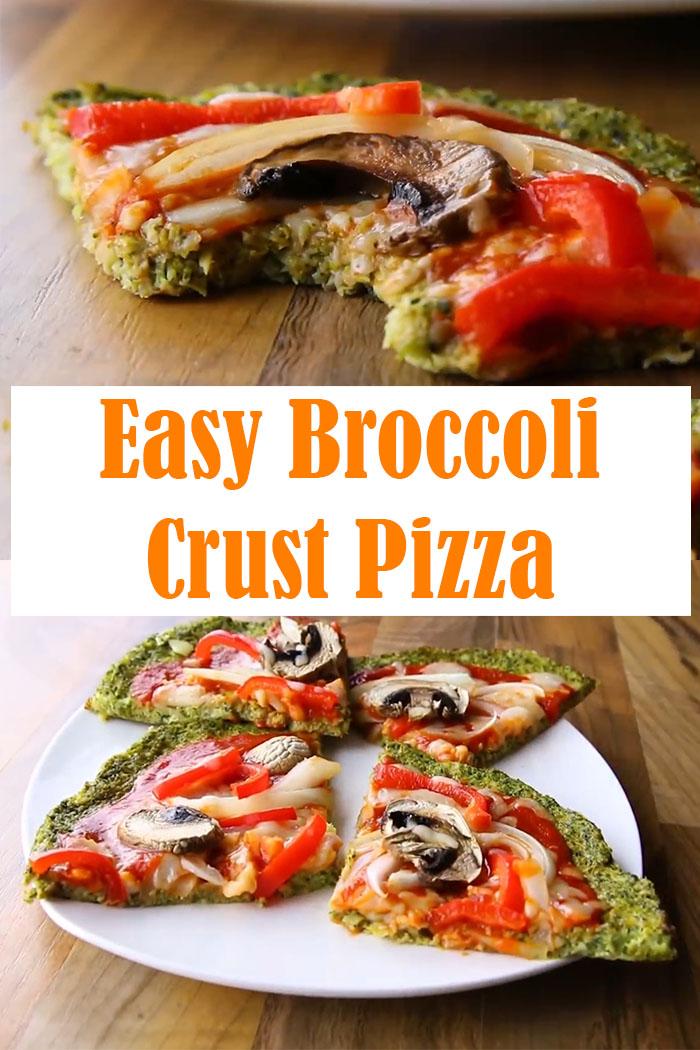 Broccoli Crust Pizza Recipe