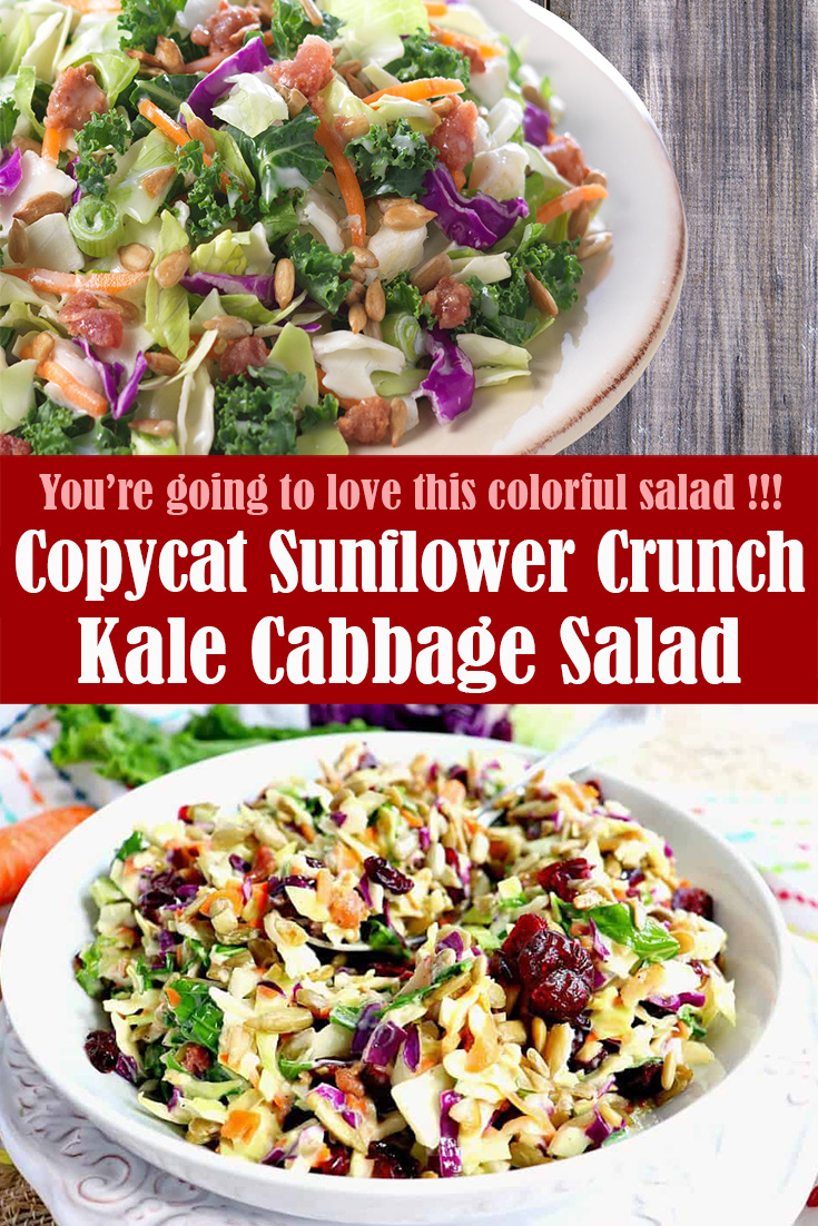 Copycat Sunflower Crunch Kale Cabbage Salad