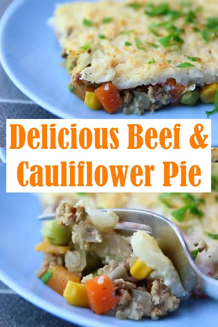 Delicious Beef & Cauliflower Pie