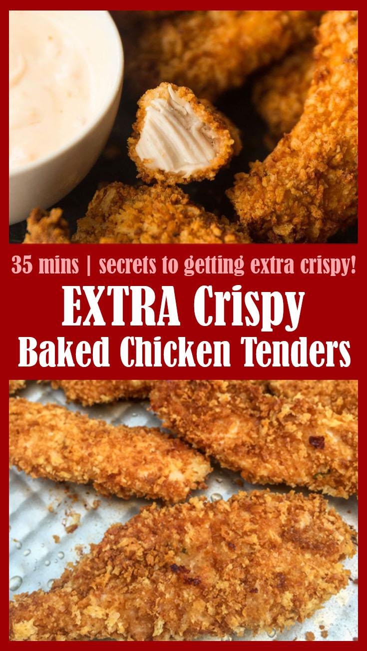 EXTRA Crispy Baked Chicken Tenders 1