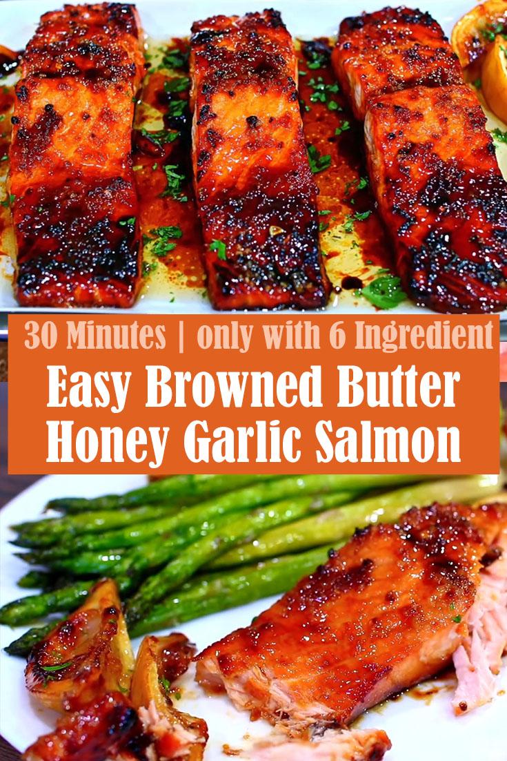 Easy Browned Butter Honey Garlic Salmon