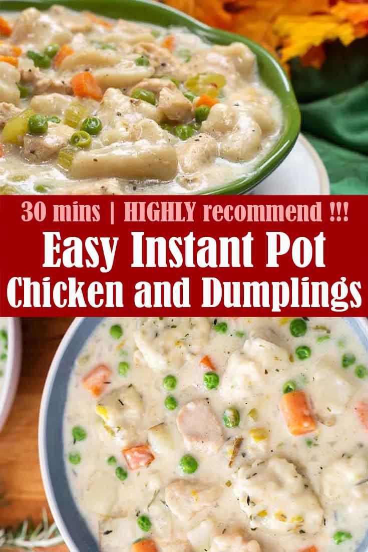 Easy Instant Pot Chicken and Dumplings