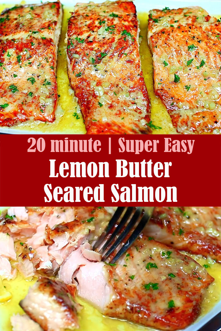 INGREDIENTS 2 Lbs Salmon Fillets Salt and pepper to taste 1 to 2 Tbs vegetable oil for searing (use more if needed) 3/4 cups chicken broth Juice of 1/2 a Lemon or 2 TBS lemon juice 1 tsp minced onion 1 clove garlic, minced 2 TBS milk 6 TBS Butter Fresh parsley to garnish