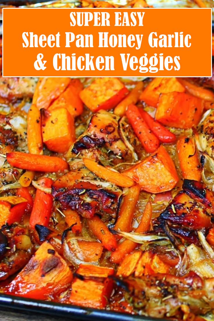 Easy Sheet Pan Honey Garlic Chicken and Veggies Recipe