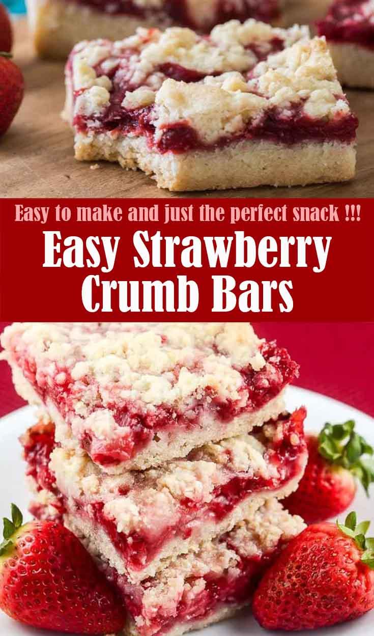 Easy Strawberry Crumb Bars
