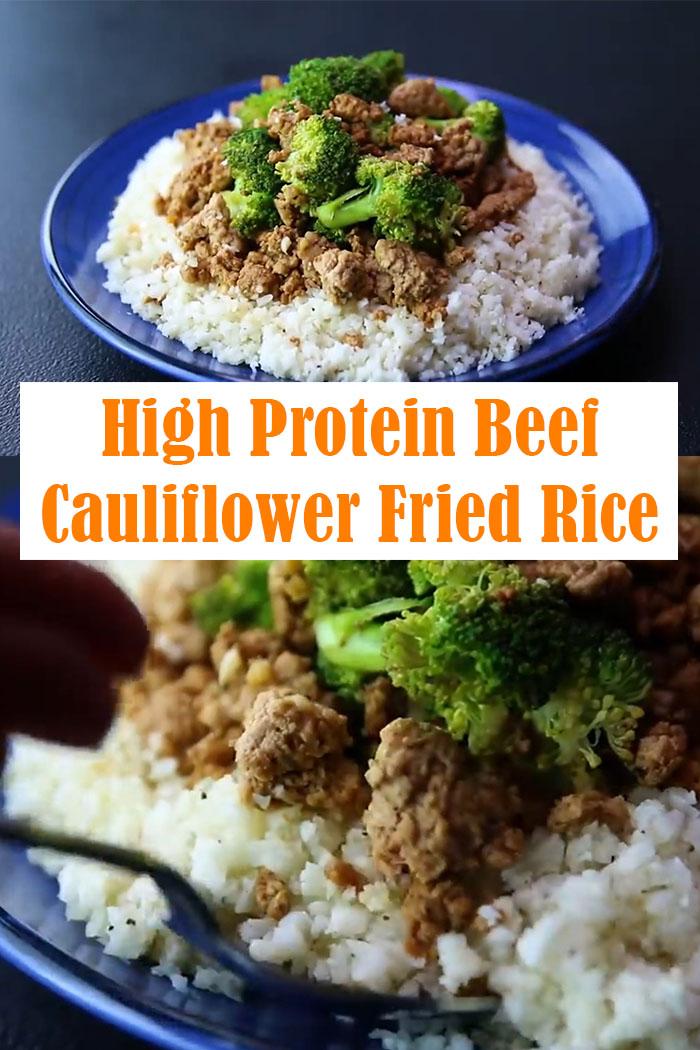 High Protein Beef Cauliflower Fried Rice