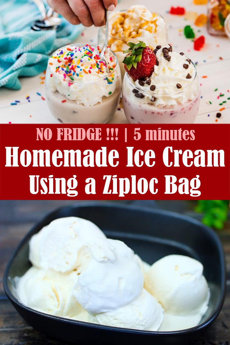 No Fridge Homemade Ice Cream in 5 Minutes