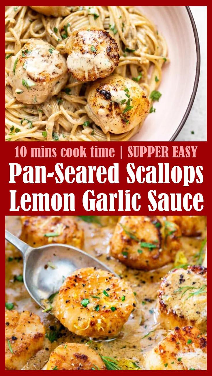 Pan-Seared Scallops with Lemon Garlic Sauce