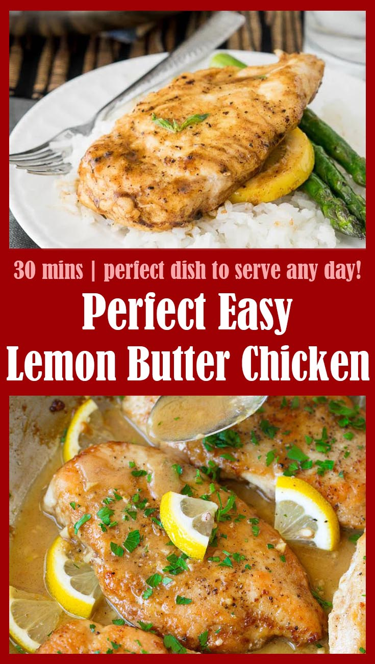 Perfect Easy Lemon Butter Chicken