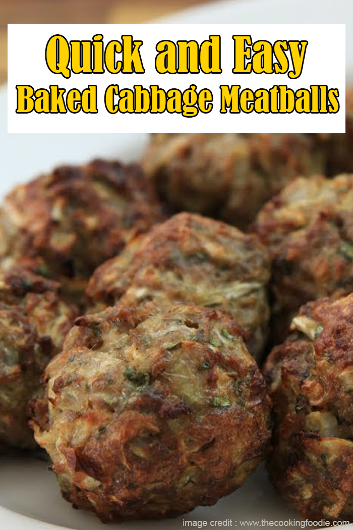 Quick and Easy Baked Cabbage Meatballs