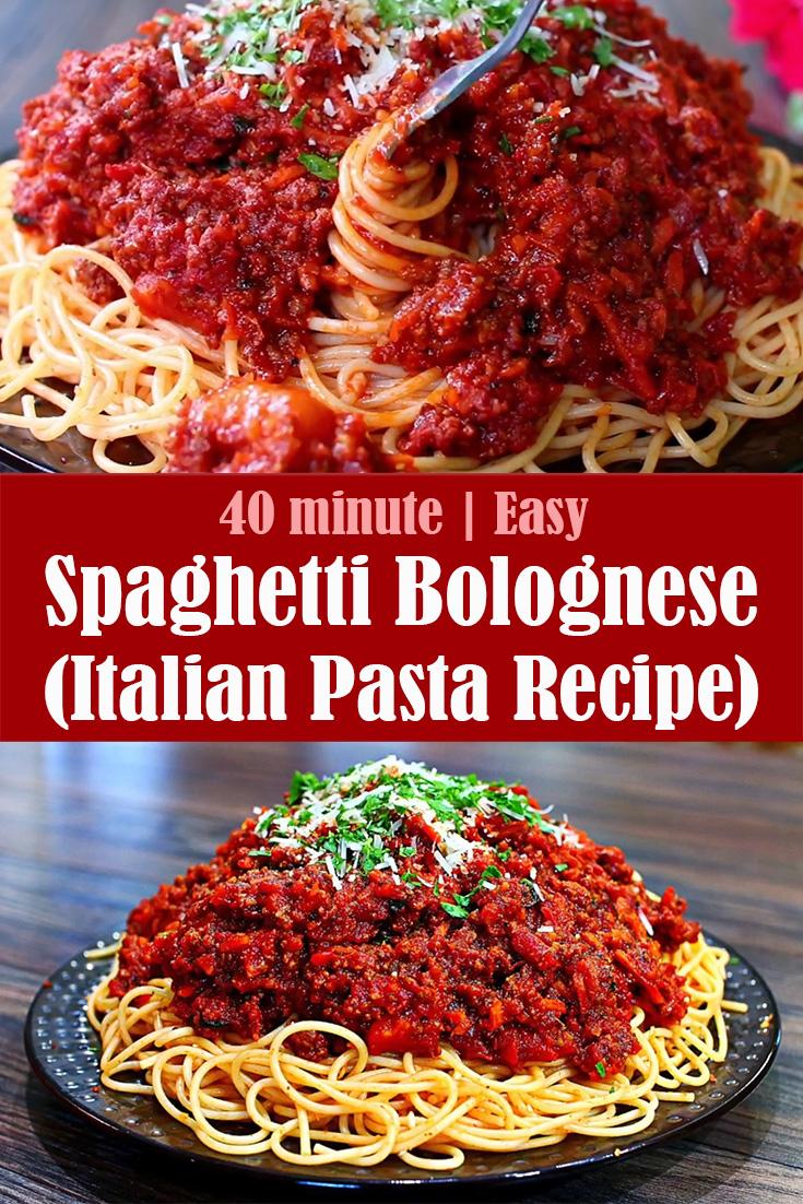 Spaghetti Bolognese (Italian Pasta Recipe)