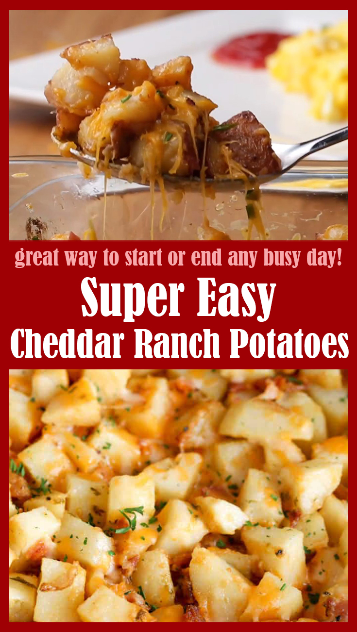 Super Easy Cheddar Ranch Potatoes