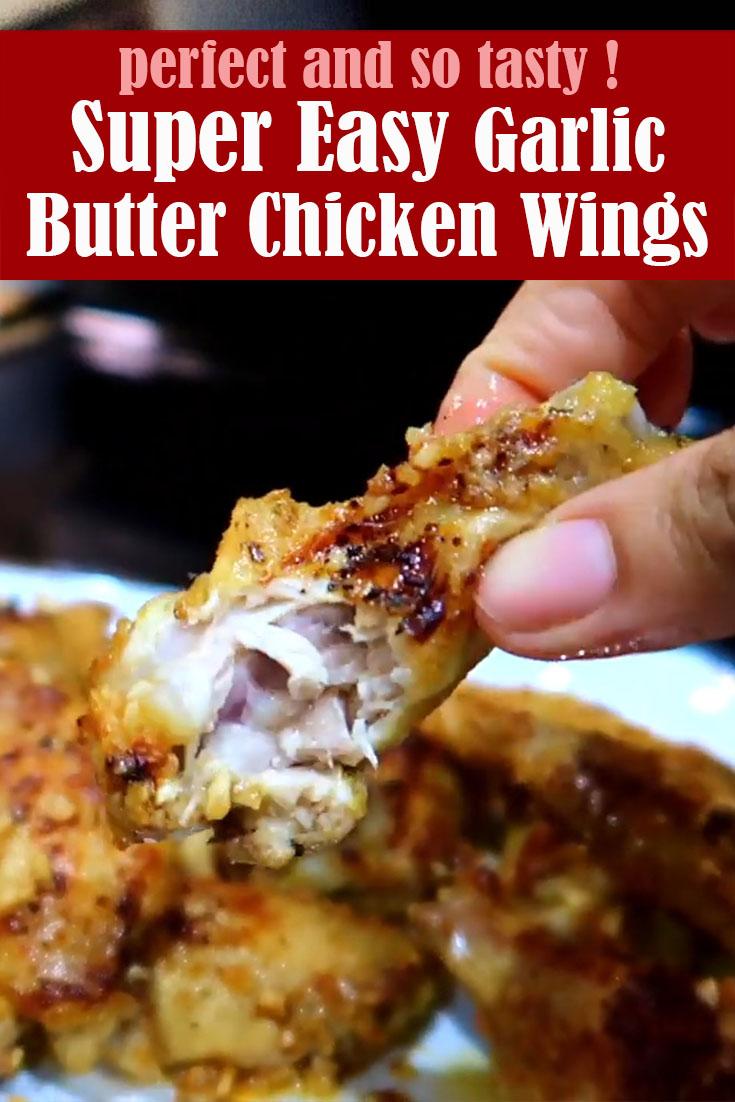 Super Easy Garlic Butter Chicken Wings