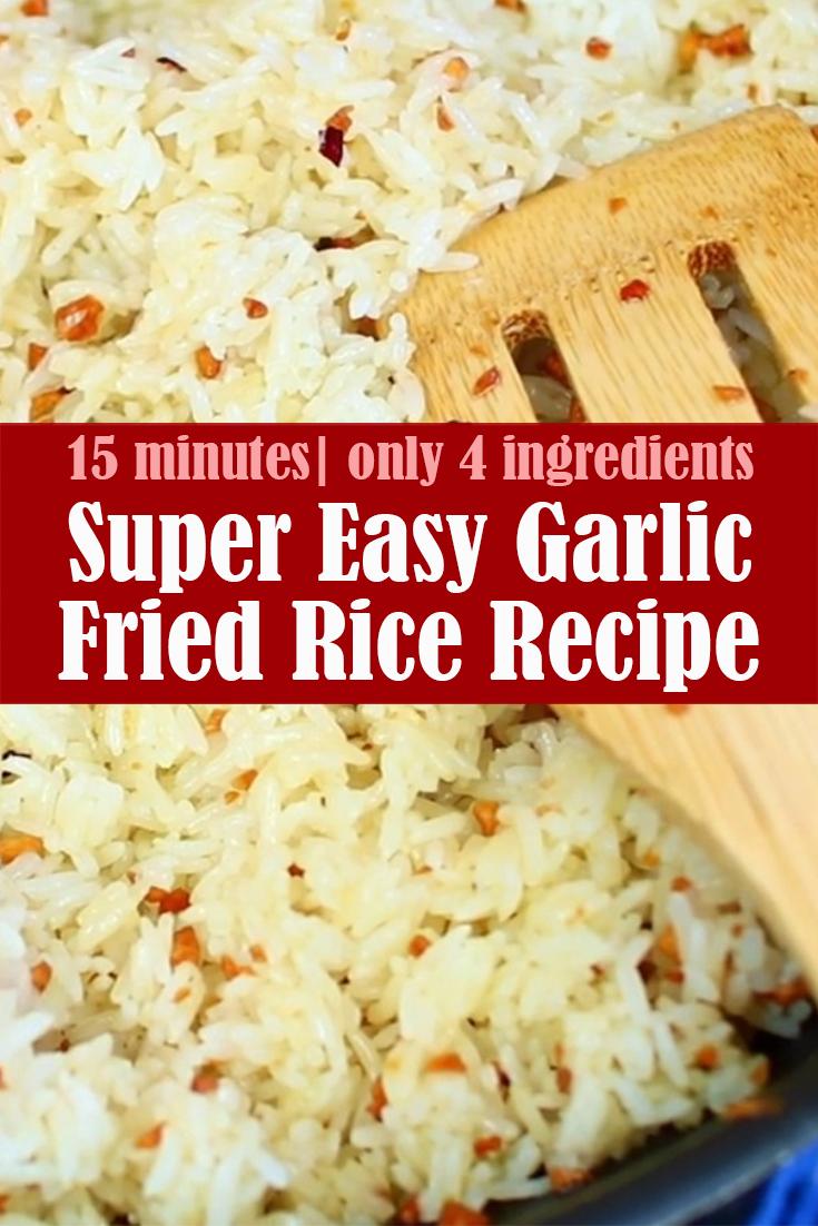 Super Easy Garlic Fried Rice Recipe