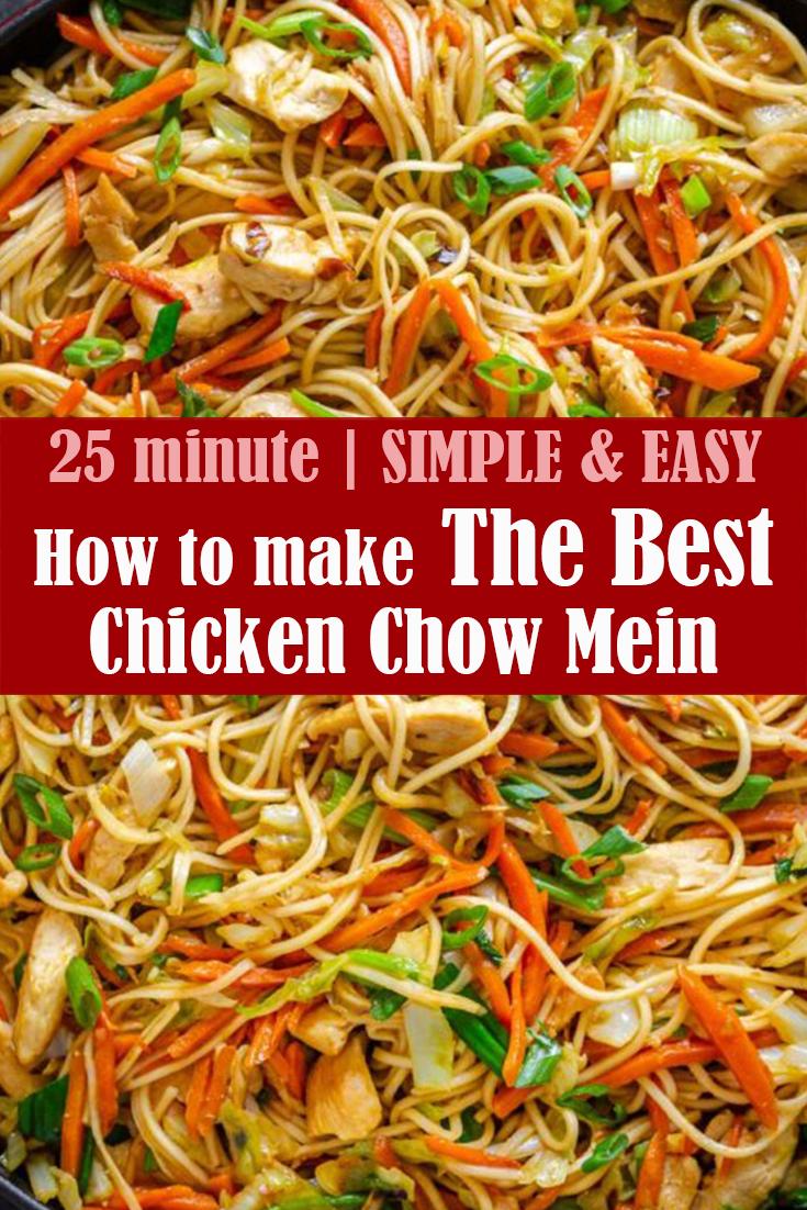 The Best Chicken Chow Mein Recipe