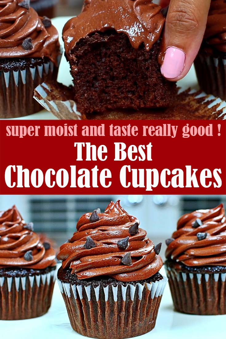 The best Super Moist Chocolate Cupcakes